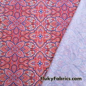 Abstract Flowers and Paisleys Swimsuit Poly Spandex  Fabric