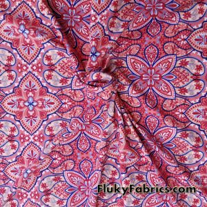 Abstract Flowers and Paisleys Swimsuit Poly Spandex
