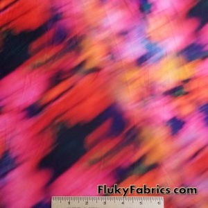 Abstract Flames Swimsuit Fabric