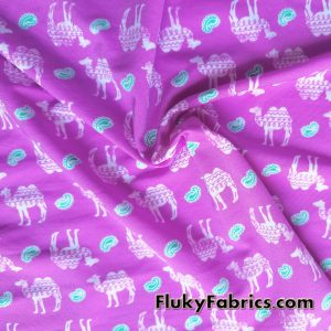 Camels and Paisleys Nylon Spandex