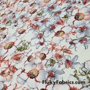 Romantic Flower Mix Cotton Lycra