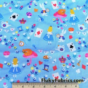 Alice in Wonderland Quilting Cotton Woven