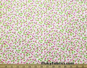 Multicolored Small Hearts Print Cotton Lycra