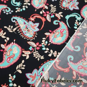 Lightweight Paisleys Nylon Spandex