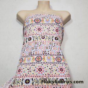 Flowers and Symbols Abstract Bikini Nylon Spandex