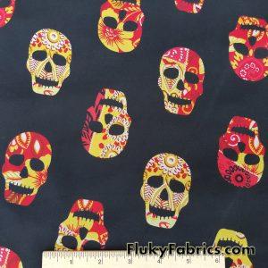 Skulls Print Chiffon