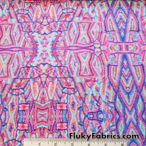 Lightweight Ethnic Print Nylon Spandex