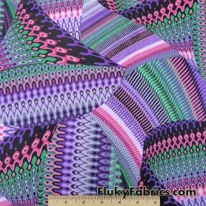 Multicolor Abstract Nylon Spandex