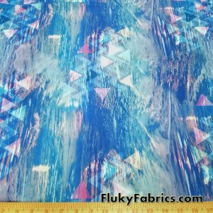 Elevate Nylon Spandex Abstract Blue
