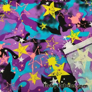 Stars and Paint Nylon Spandex
