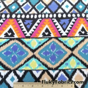 Multicolor Ethnic Print Cotton Lycra
