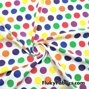 Multicolor Dots Cotton Lycra