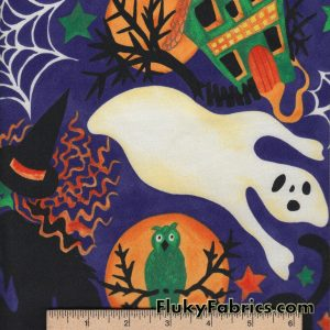 Halloween Cotton Woven Quilting