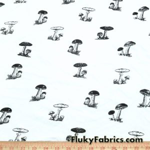 Small Mushrooms Organic Cotton Jersey