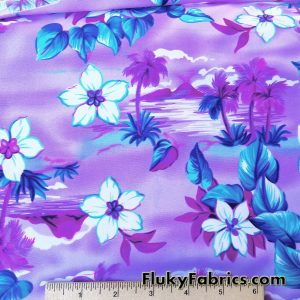 Islands on Purple Swimsuit Nylon Spandex