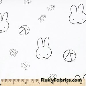 Miffy Bunny Baby Print Organic Cotton Jersey