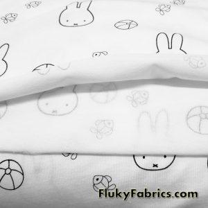 Miffy Bunny Baby Print Organic Cotton Jersey