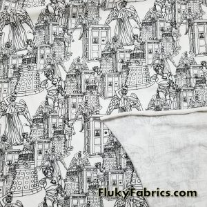 Dr. Who Villains Cotton Jersey  Fabric