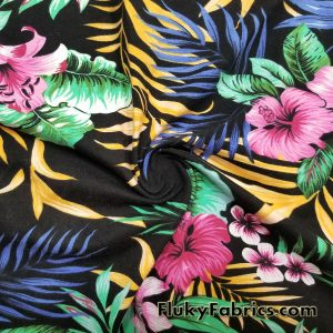 Hawaiian Print Lightweight Cotton Lycra