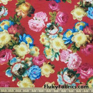 Rose Bouquet Poly Spandex