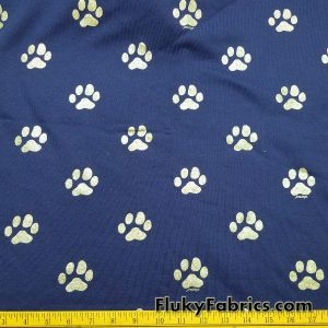 Dog Paws on Poly Cotton Fleece