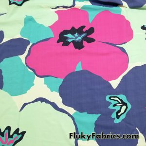 Giant Flowers Print Nylon Spandex