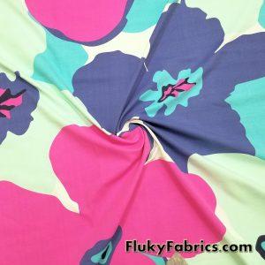 Giant Flowers Print Nylon Spandex  Fabric