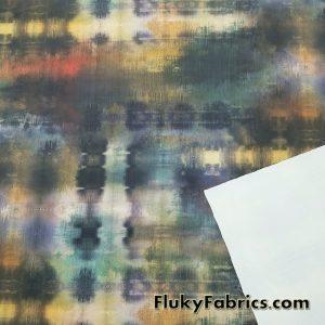 Abstract Design Nylon Spandex  Fabric
