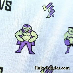 Fighter Cartoons Cotton Jersey  Fabric