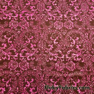 Fuschia and Brown Faded Swimsuit Poly Spandex