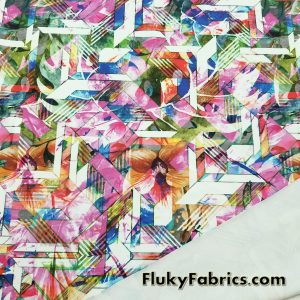 Stained Glass Print Swimsuit Nylon Spandex  Fabric
