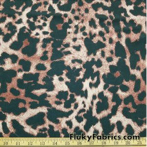 Faux Fur Animal Print Swimsuit Nylon Spandex