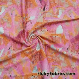 Abstract Pink Print Nylon Spandex