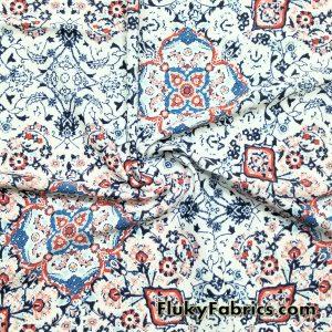 Abstract Mosaic Print Bathing Suit Nylon Spandex  Fabric