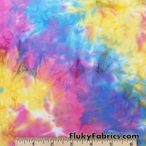 Colorful Tie Dye Print Lightweight Bikini Nylon Spandex