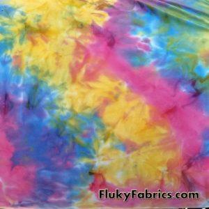 Colorful Tie Dye Print Lightweight Bikini Nylon Spandex  Fabric