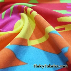 Super Bright Colors Ethnic Print Swimwear Nylon Spandex