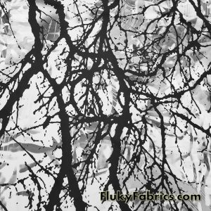 Abstract Tree Branches Swimsuit Nylon Spandex  Fabric