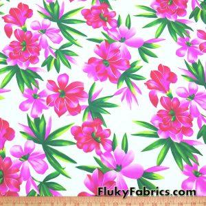 Big Pink Flowers Swimsuit Nylon Spandex