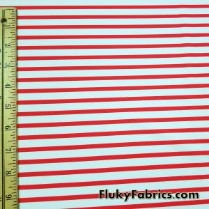 Red and White Stripes Swimsuit Nylon Spandex