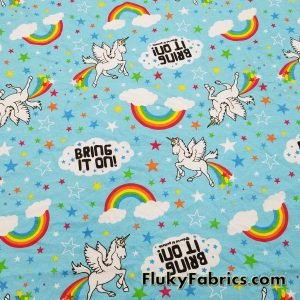 Farting Unicorns Cotton Jersey