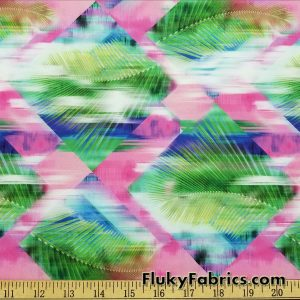 Abstract Diamonds and Palms Swimsuit Nylon Spandex