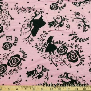 Alice, Cheshire and Roses Rayon Spandex Jersey