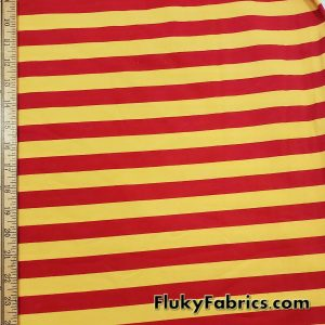 7/8″ Yellow and Red Yarn Dyed Stripe Cotton Lycra