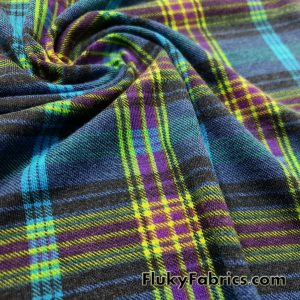 Lightweight Brushed Plaid Rayon Spandex Jersey