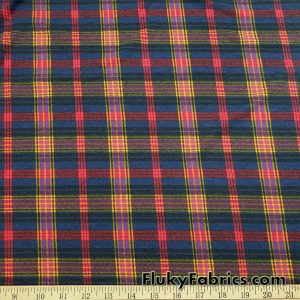 Plaid Lightweight Brushed Rayon Spandex Jersey