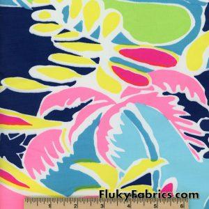 Big Colorful Tropical Print Swimwear Nylon Spandex