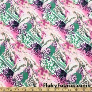 Fantastical Abstract Animal Print Nylon Spandex Fabric  Fabric