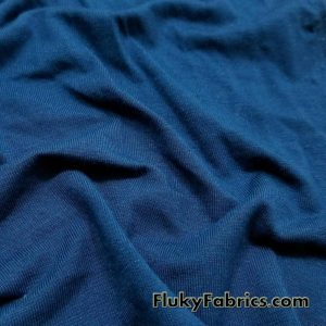 Teal Color Solid Bamboo Jersey Lycra Fabric