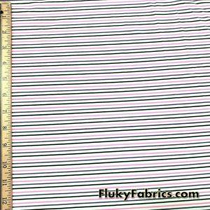 Nylon Spandex Black, Hot Pink and Purple Mini Stripes Fabric
